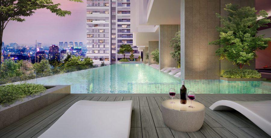 Tiện ích hồ bơi skyview dự án căn hộ Kingdom 101 Cityapartment.com.vn