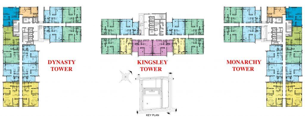 Phối cảnh 3 tòa tháp của dự án căn hộ Kingdom 101 Cityapartment.com.vn