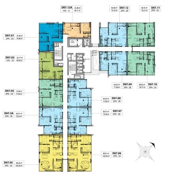 Phối cảnh tháp Dynasty dự án căn hộ Kingdom 101 Cityapartment.com.vn