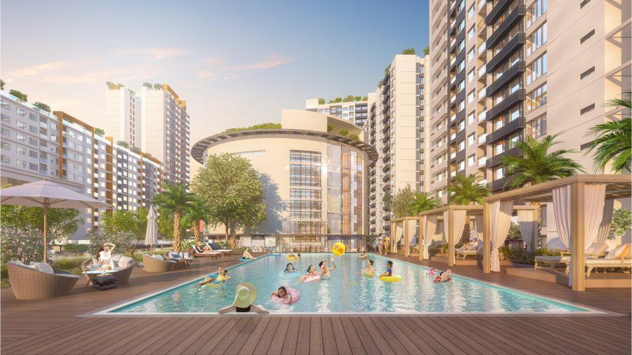 Tiện ích hồ bơi nội khu căn hộ New City Thủ Thiêm Quận 2