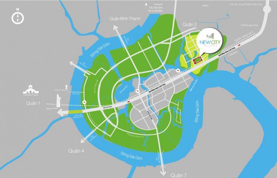 Vị trí căn hộ New City Thủ Thiêm Quận 2