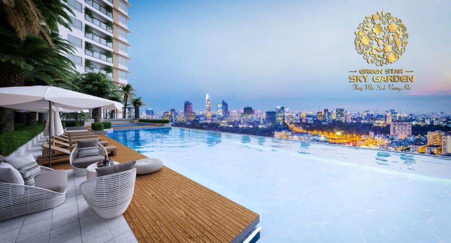Hồ bơi skyview dự án căn hộ Hưng Phát Quận 7 – Cityapartment.com.vn