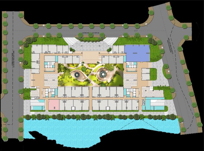 Mặt bằng tầng 1 căn hộ Green Star Quận 7 – Cityapartment.com.vn