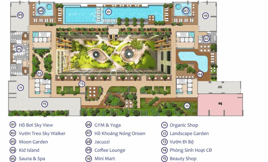 Mặt bằng tầng 5 căn hộ Green Star Quận 7 – Cityapartment.com.vn