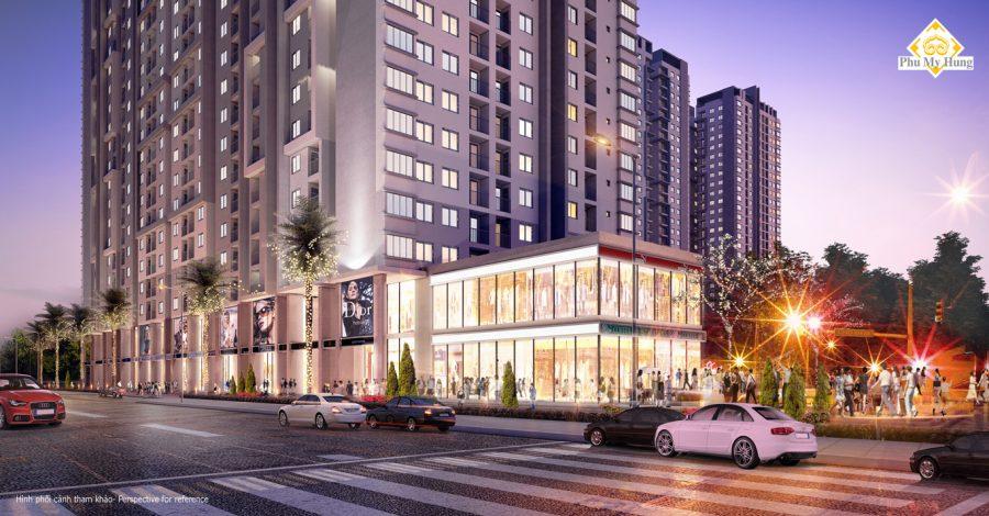 Phối cảnh tổng quan dự án căn hộ Sài Gòn South Residences Quận 7
