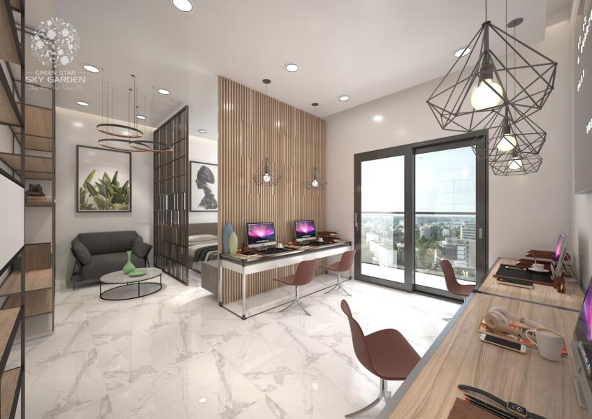 Thiết kế nội thất trong căn hộ văn phòng Officetel Green Star Sky Garden - Cityapartment.com.vn