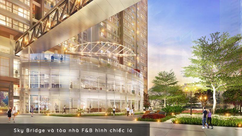 Sky Bridge và tòa nhà F&B dự án Phú Mỹ Hưng Midtown