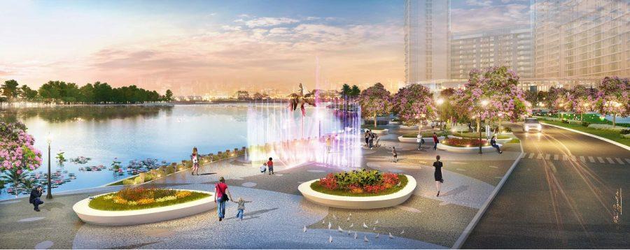 Tiện ích công viên bên sông dự án căn hộ Phú Mỹ Hưng Midtown