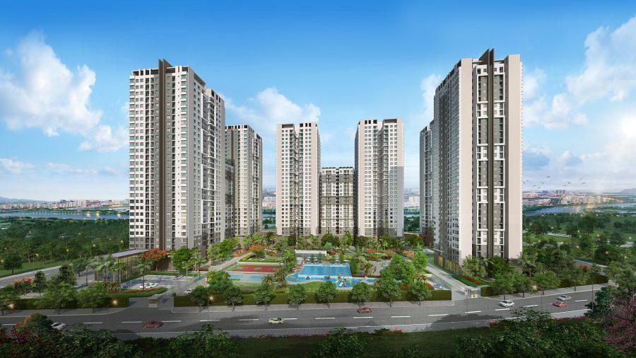 Phối cảnh 3D dự án căn hộ Sài Gòn South Residences Quận 7