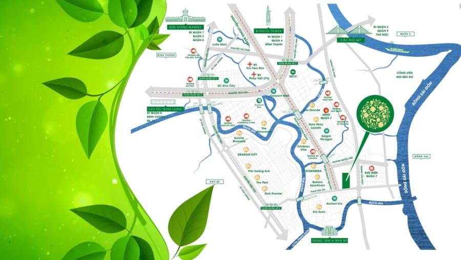 Vị trí dự án Hưng Phát Green Star Quận 7 - Cityapartment.com.vn