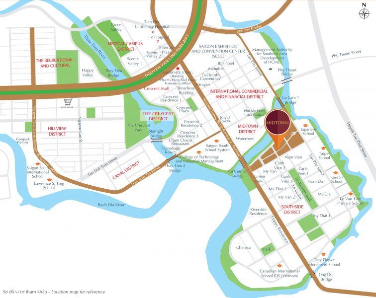 Vị trí dự án căn hộ Phú Mỹ Hưng Midtown