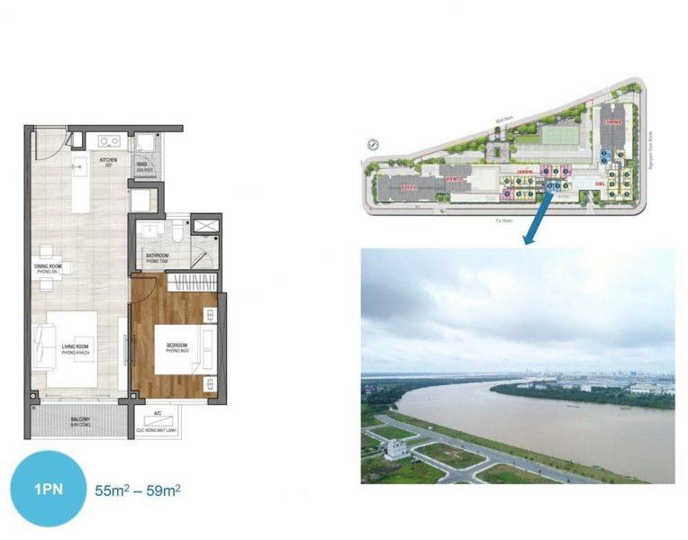 Thiết kế căn hộ 1PN dự án One Varendah Cityapartment.com.vn