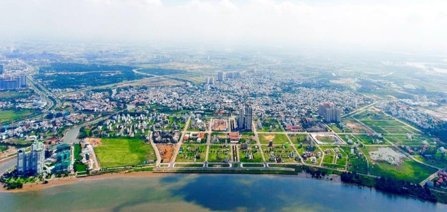 Vị trí dự án One Verandah - Ảnh chụp flycam