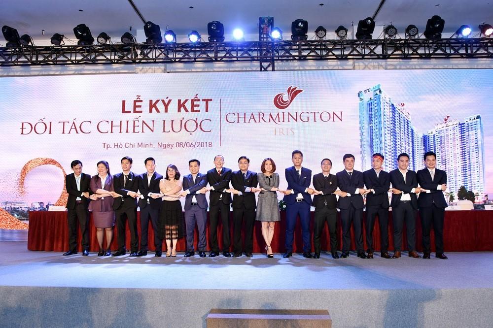 Lễ ký kết Đối tác chiến lược dự án Charmington Iris được tổ chức vào tháng 6/2018.