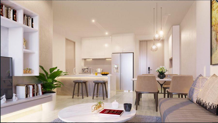 Thiết kế hiện đại và thông minh tại căn hộ Block K sắp ra mắt thị trường.