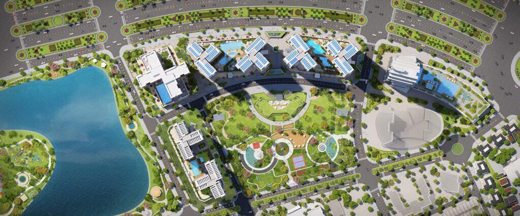 Mặt bằng trên cao dự án căn hộ Eco Green Sài Gòn - Cityapartment.com.vn