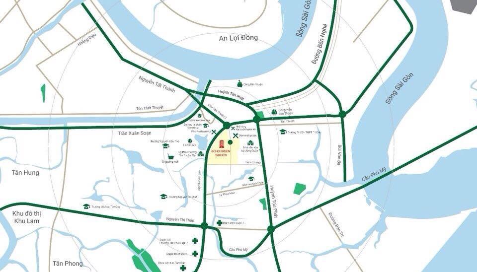 Vị trí dự án Eco Green Sài Gòn quận 7 - Cityapartment.com.vn