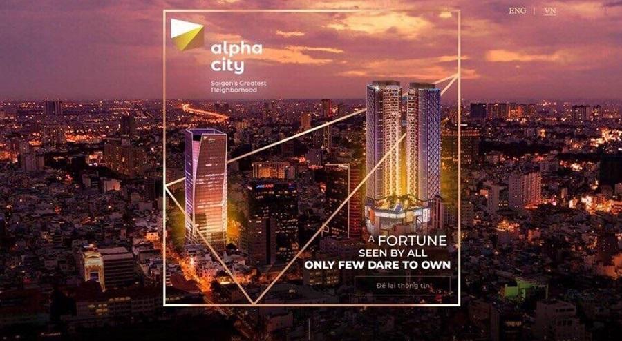 Căn hộ Alpha City là một trong số 11 dự án trọng điểm của Alpha King tại Sài Gòn.