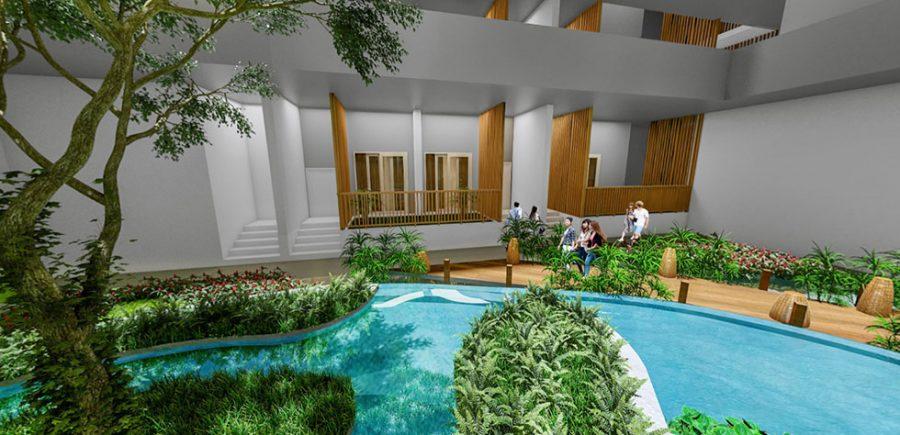 Thiết kế mảng xanh trong căn hộ Green Star Sky Garden - Cityapartment.com.vn