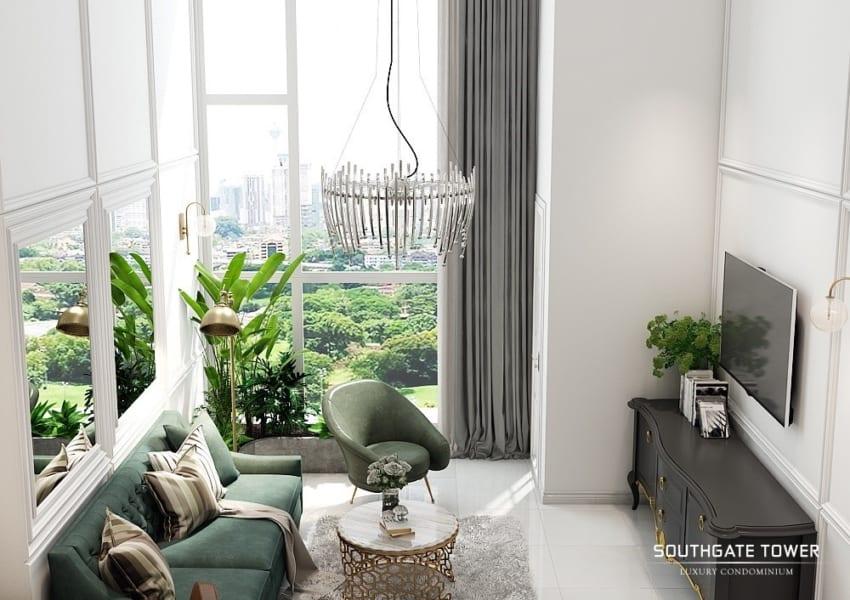 Phối cảnh thiết kế căn hộ Southgate Tower Quận 7 - Cityapartment.com.vn