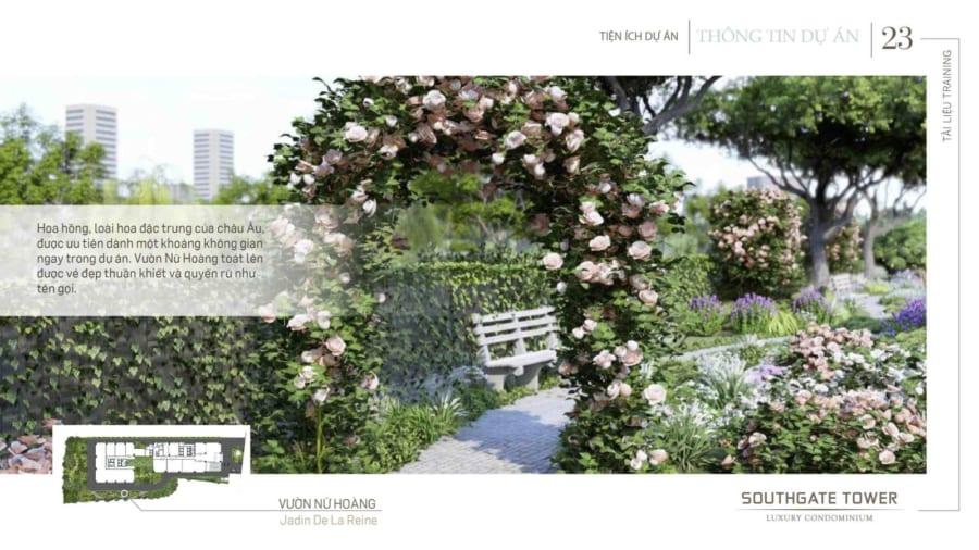 Khu vườn nữ hoàng được Chủ Đầu Tư Hồng Hà cam kết sẽ tuyển chọn giống hoa hồng phấn đẹp nhất trên TG đem về trồng