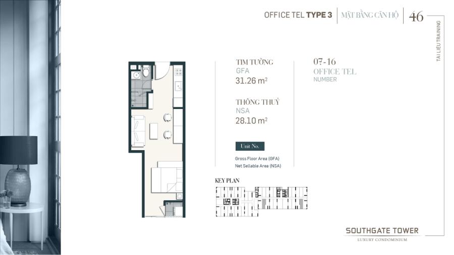 Thiết kế căn hộ Officetel Southgate Tower Quận 7 ảnh 7 - Cityapartment.com.vn