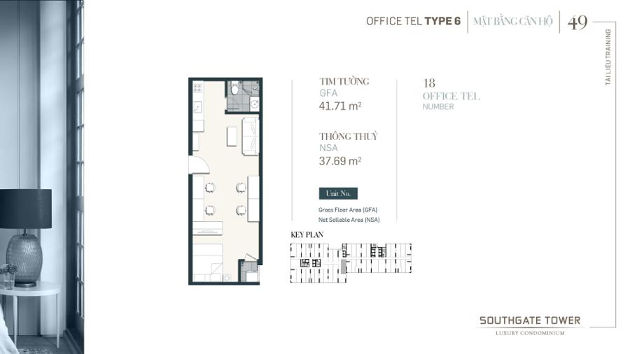 Thiết kế căn hộ Officetel Southgate Tower Quận 7 ảnh 4 - Cityapartment.com.vn