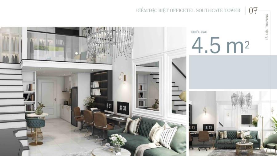 Giá bán Officetel Southgate Tower Quận 7 chỉ từ 1,5tỷ/căn