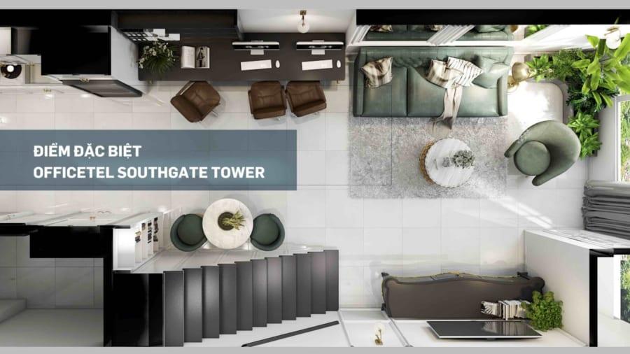 Mức giá cho thuê Officetel Southgate Tower Quận 7 từ 12-18triệu/tháng