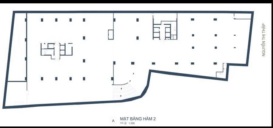Mặt bằng hầm 2 căn hộ Southgate Tower Quận 7 - Cityapartment.com.vn