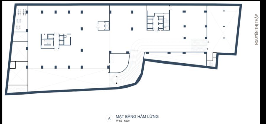 Mặt bằng hầm lửng căn hộ Southgate Tower Quận 7 - Cityapartment.com.vn
