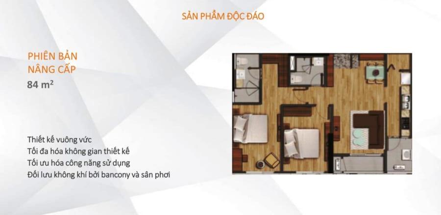 Mặt bằng căn hộ Akari City diện tích 84m2