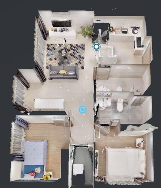 Thiết kế căn hộ 2PN Vincity Quận 9