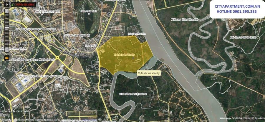 Vị trí khu đô thị Vincity quận 9