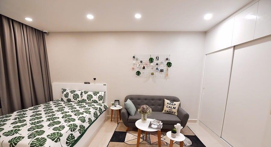 Thiết kế căn hộ Studio Vincity với không gian tiện nghi, hiện đại.