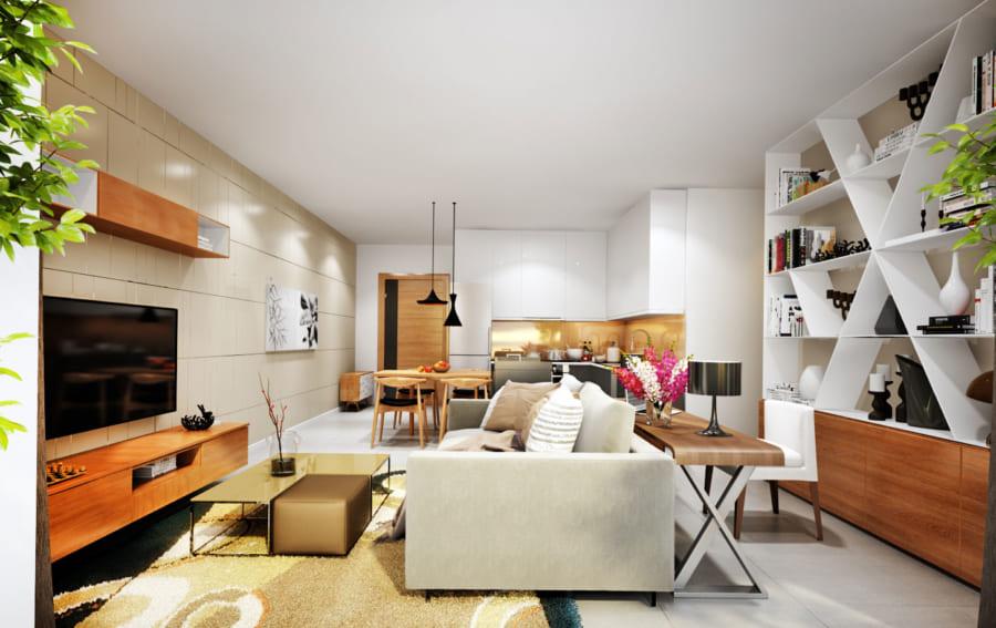 Không gian căn hộ De Capella Q2 ấm cúng và hiện tại tại De Capella