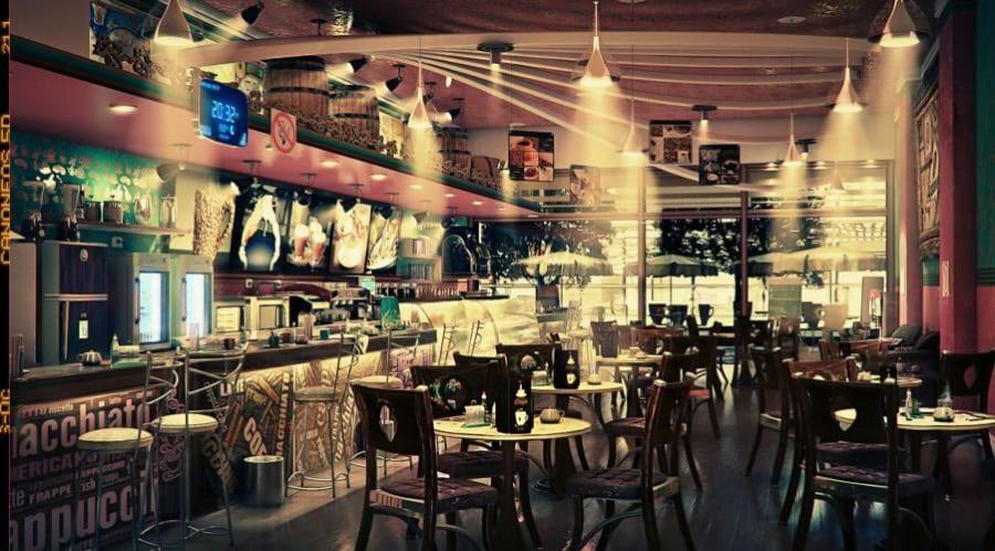 Khu cafe lounge nằm trong dự án De Capella quận 2