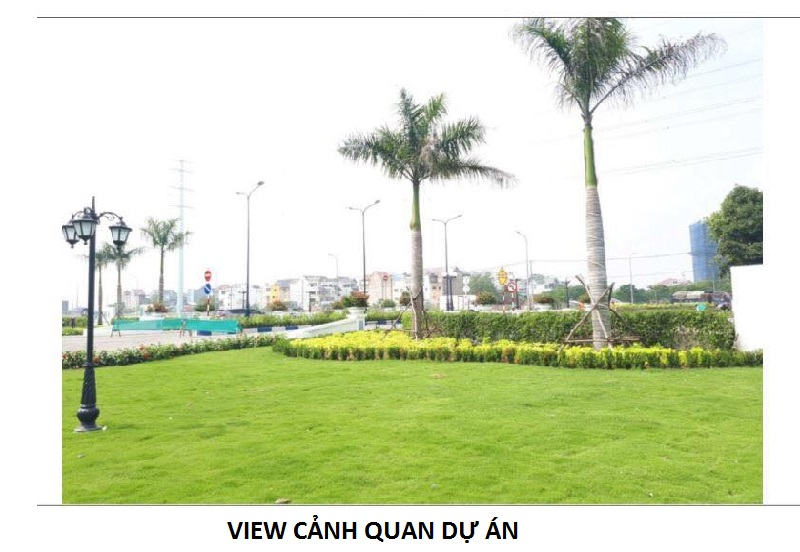 Hình ảnh công viên xanh trong dự án căn hộ Safira Khang Điền Quận 9