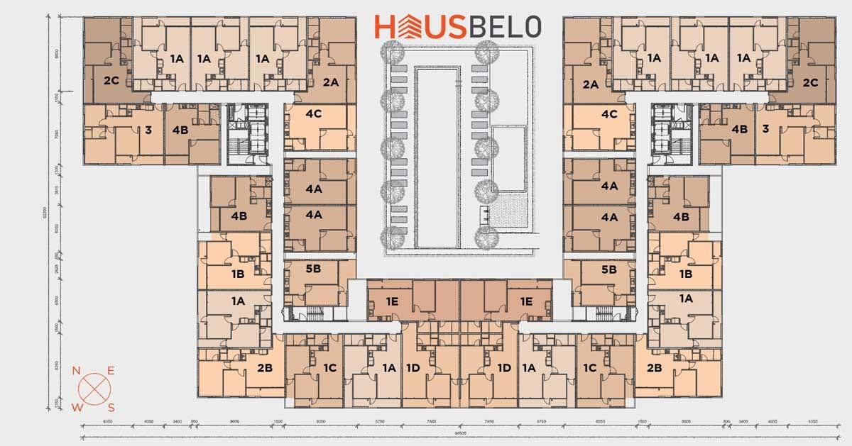 Thiết kế mặt bằng tầng dự án căn hộ Hausbelo Quận 9