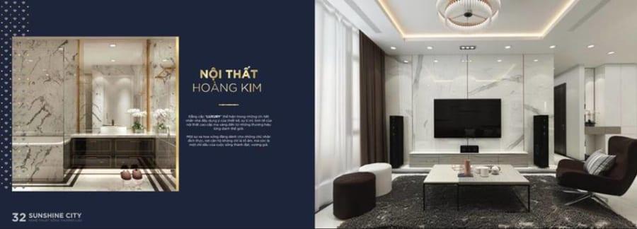 Thiết kế nội thất căn hộ Sunshine City Sài Gòn cực sang trọng - Ảnh 1