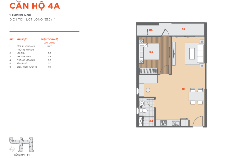 Thiết kế căn hộ Hausbelo 1PN ảnh 3