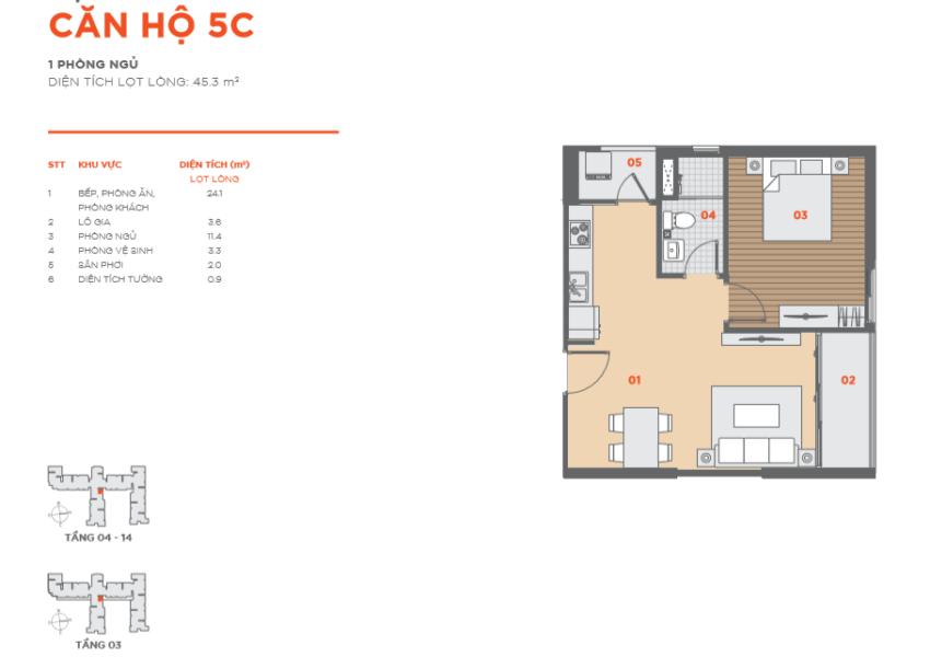 Thiết kế căn hộ Hausbelo 1PN ảnh 2