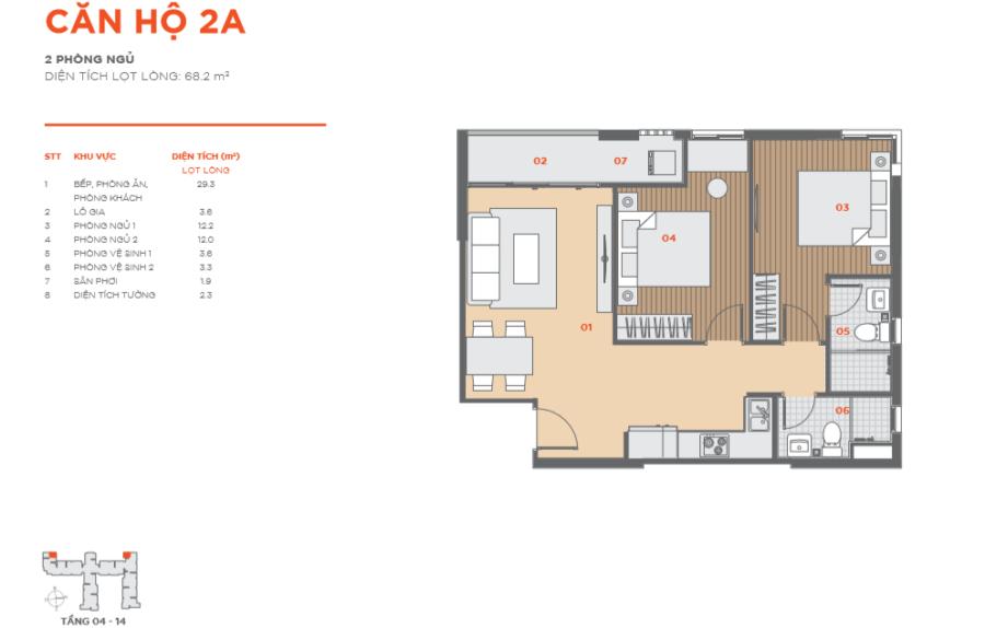 Thiết kế căn hộ Hausbelo 2PN ảnh 2