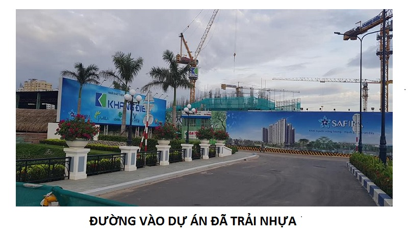 Hình ảnh đường vào dự án Safira Khang Điền Quận 9
