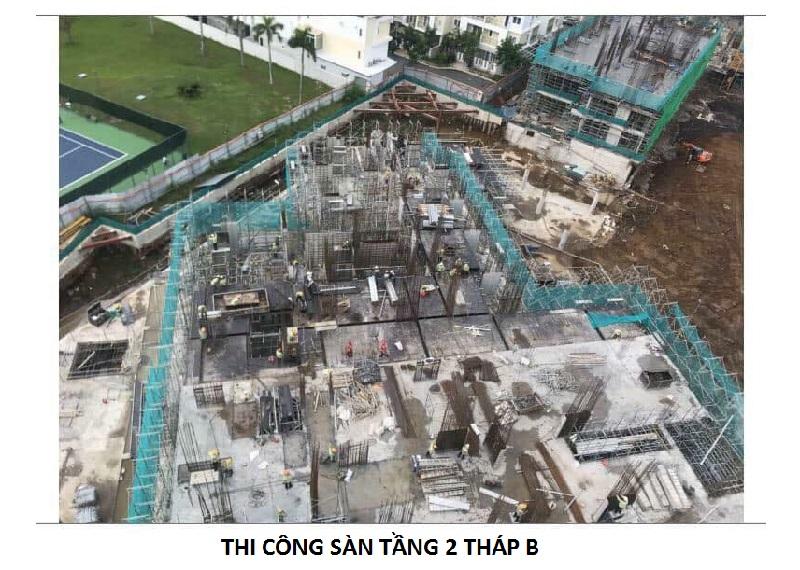 Hình ảnh thi công sàn tầng 2 tháp B dự án Safira Khang Điền Quận 9