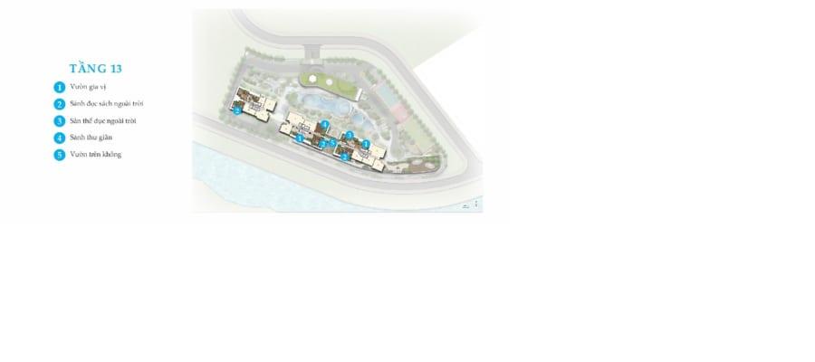Tiện ích nổi bật tại tầng 13 dự án Palm Garden Quận 2
