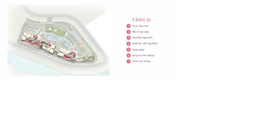 Tiện ích nổi bật tại tầng 23 dự án Palm Garden Quận 2