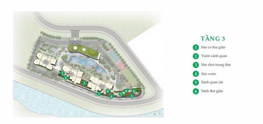 Tiện ích nổi bật tại tầng 3 dự án Palm Garden Quận 2