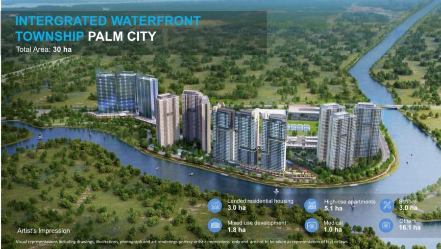 Tổng thể thiết kế dự án Palm Garden Quận 2