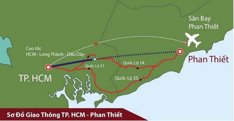 Sơ đồ giao thông Phan Thiết – TP.Hồ Chí Minh